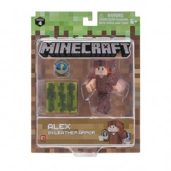 Minecraft Figura Alex In Leather Armor
